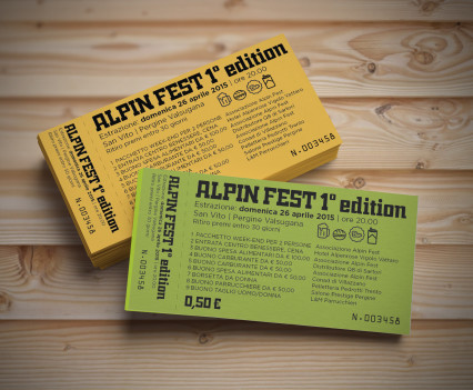 Alpin Fest | lotteria su carta colorata